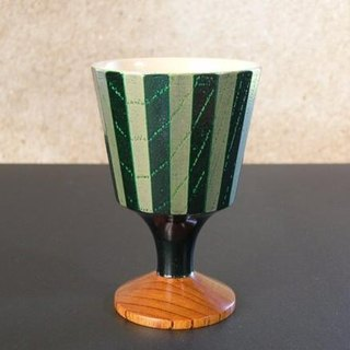 [Christmas gift] goblet <24 corner> / green stripes ·