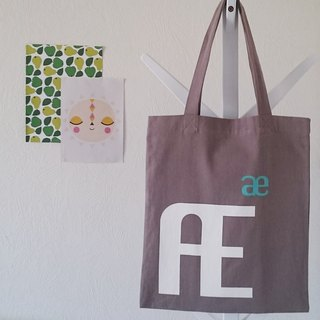 Kikare cold letters canvas bag - Æ