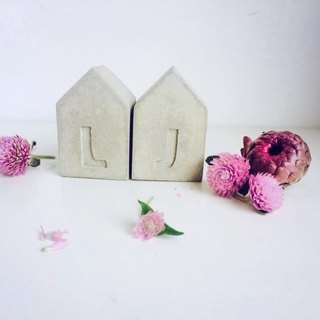 JokerMan / 0 - into the house home & lover & home & office & indoor miniature forest & desk healing relieve pressure on small objects · Customized intimate creative small gifts - cement alphabet house · Wedding of small objects · decora