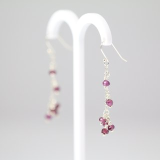 ColorDay garnet sterling silver earrings []