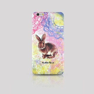 (Rabbit Mint) Mint Rabbit Phone Case - Drawing Lace Rabbit Series - iPhone 6 Plus (P00069)