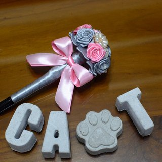 CAmelliaT camellia signature pen bouquet jewelry cat * [humorous pink money] * was * sisters small wedding ceremony