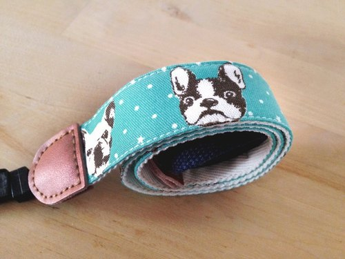 Strap - French Bulldog (blue-green)