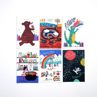 Rainbow postcard set