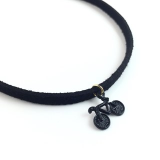 """Black bicycle necklace"""