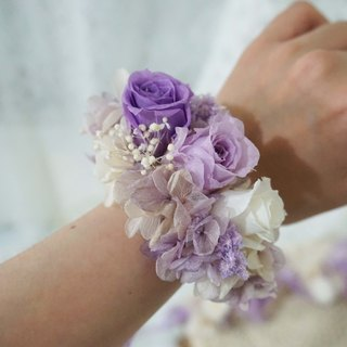 Happiness Hanayome - bridesmaid wrist flower Preserved flowers immortalized flower*exchange gifts*Valentine's Day*wedding*birthday gift