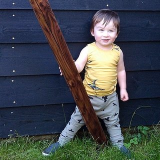 Nordic organic cotton children's clothing rat trousers grey