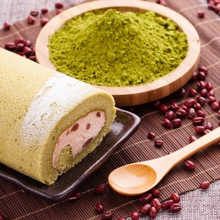 Matcha red bean roll