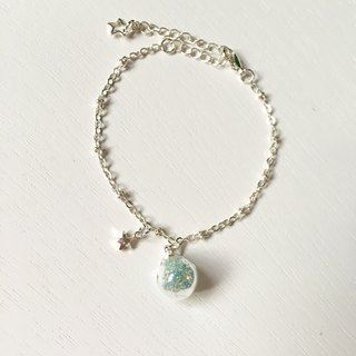 *Haku‧Neko*mint green gel beads glass ball Little Star Bracelet