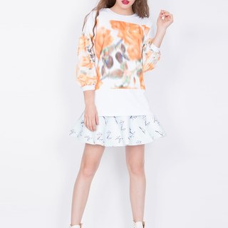 ZIZTAR flower forest long sweater