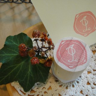 Hand-made rubber stamp - wax seal section (NO 3 I)