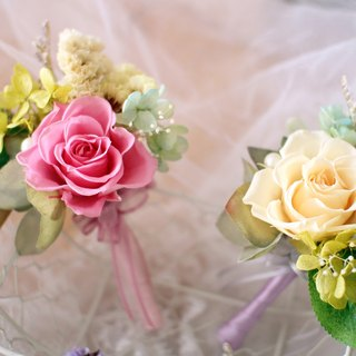 [Single flower wedding flower corsage] eternal life - eternal life flower / dried flowers / jewelry bouquet / wedding bouquet bouquet / flower ceremony