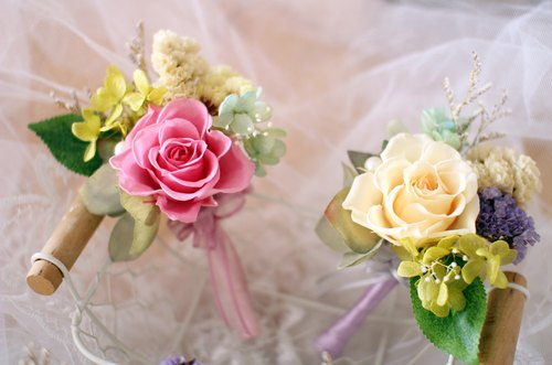 Single flower wedding flower corsage] eternal life - eternal life ...