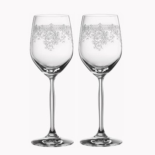 (One pair price) 340cc [MSA] German wedding cup dedicated to vintage theatrical SPIEGELAU platinum crystal glass of white wine cup wedding gifts