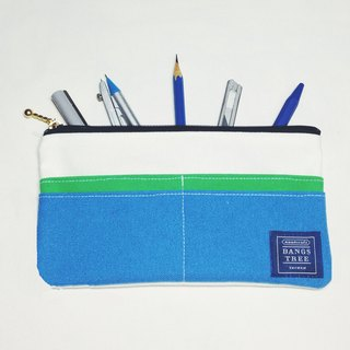 ::Bangstree:: Multifunctional Pencil case-white+green+blue