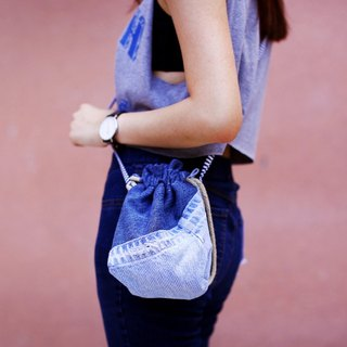 Denim Patchwork small bag