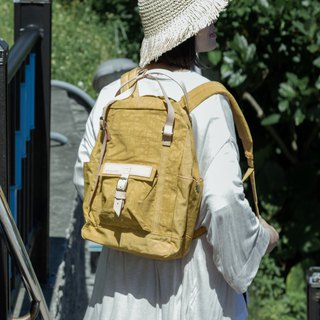 【ZeZe Bag】DYDASH x 3way/hand bag/shoulder bag/backpack/diaper bag/contrast color(Pear mustard )