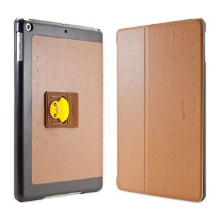 iPad Air can be vertical flip cover Case - Yellow Duck