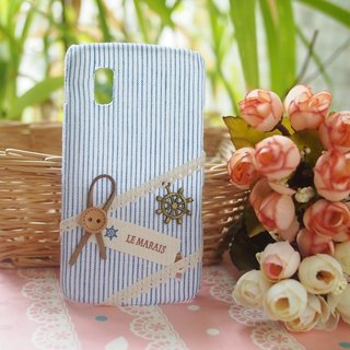 Marine wind blue and white striped fabric shell phone Apple iPhone 6 6 plus 5s 5 4s 4 Ipod touch 5 4