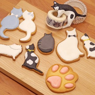 Gluttonous lollipop cookies group hand gift exchange gifts Christmas gift saliva cookies cat meow stars