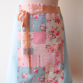 British style - small floral aprons half