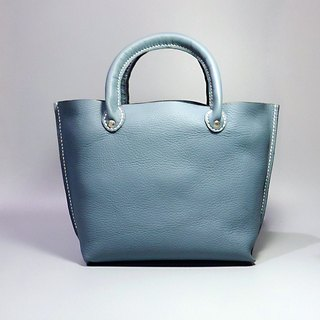 [ANITA] pure hand-made workshop ‧ Wen Qing / handmade leather bag (blue and gray) - Specials