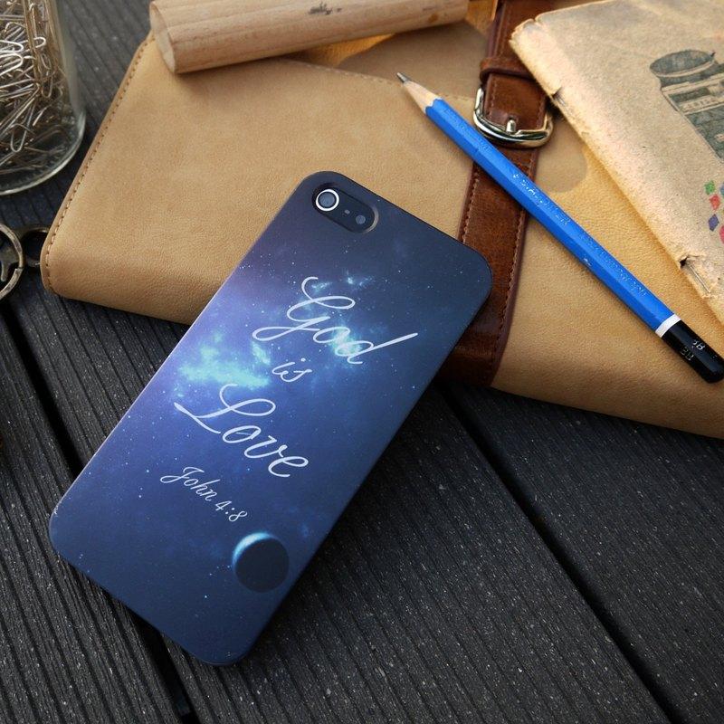 香港原創設計 神是愛 太空圖案 iPhone & Samsung 創意手機保護殻