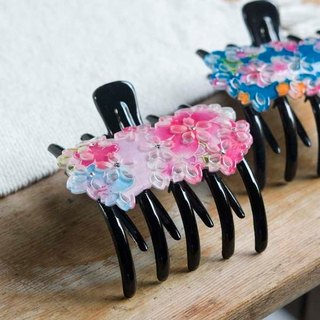 [MITHX] stenciling cherry, double prong clip, backhoes clip, shark clip - pink