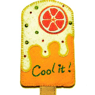 Popsicle card set - Orange