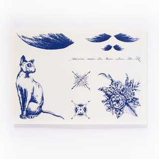 LAZY DUO Spiritual Feather Cat Temporary Tattoo Stickers { SET 01 }