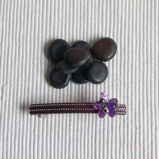 Beaded sequins flower, 9cm automatic folder, the folder level, hairpin - purple