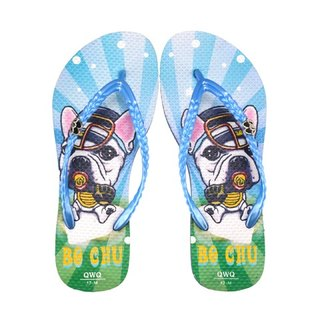 QWQ creative design flip-flops (no drill)-Bo Chu-blue [STN0351504]