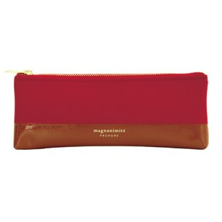 [Japanese] Prendre LABCLIP series Pen case Pencil (zipper) red