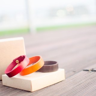 [Handsome] thick leather collar Handmade bracelets (one pair)