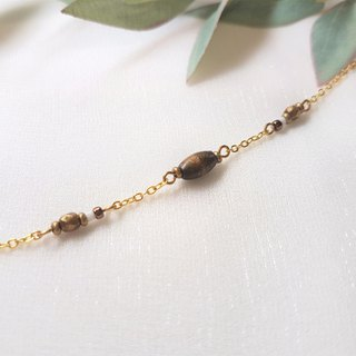 Nordic style simple wood pillar string bracelet