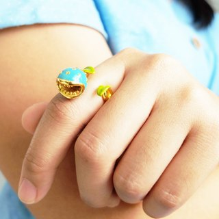 Glorikami Blue Hunting Flower Ring