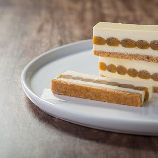 Yogurt cheese sweet potato cheesecake