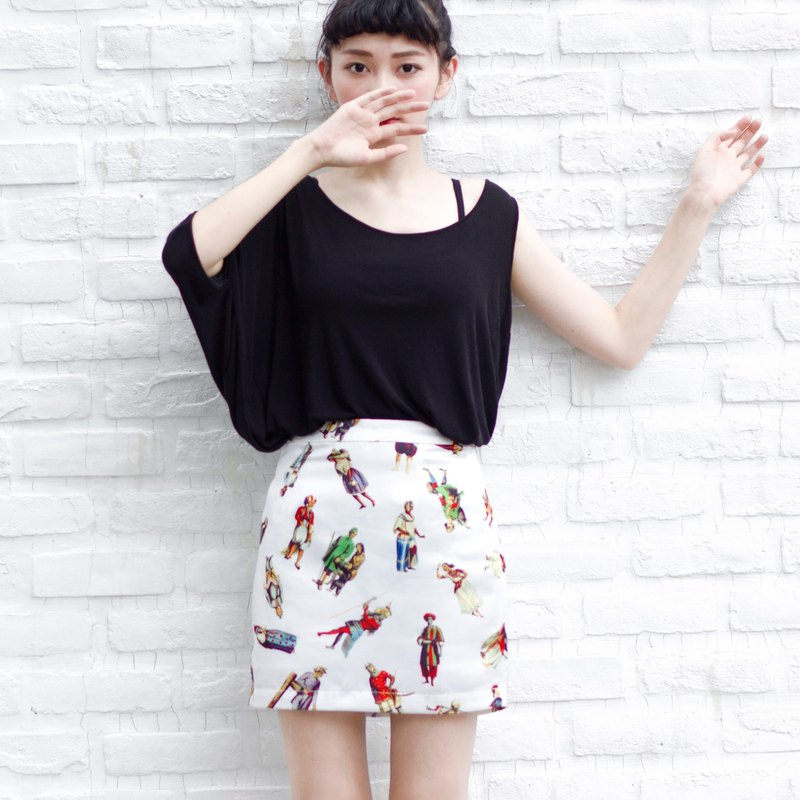 Printed Skirt (non-stretchable) // Scrambled Culture