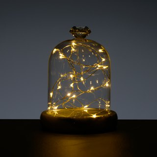 Marble starlight night light (including glass cover and lamp)