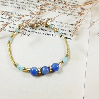 The candy in the window _ bracelet blue rhizome brass