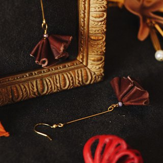 Febbi skirt leather cowhide earrings