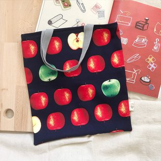 Simple tote bag/shopping bag  -  Give me an apple