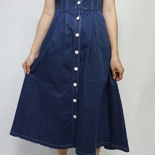 - Chicken Mother Dock - Spring Flat Shoulder Design Buckle Denim Dress