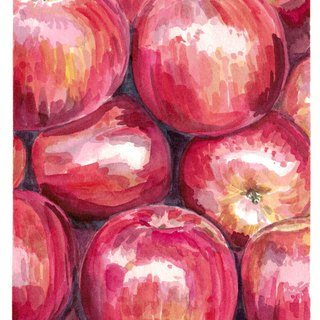 "Original Watercolour Painting (7.5"" x 5.5"") - Apples"