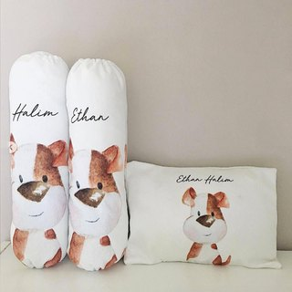 Jack Russel Personalized Baby Bolster and Pillow