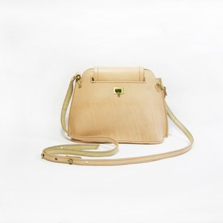 ● Ladder leather bag (nude color tannery) (sidepack, shoulder bag) _ _ Zuo zuo hand leather
