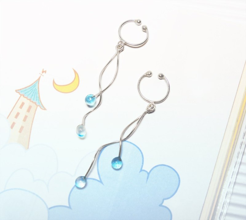 Cool Summer Fruit Sterling Silver Earrings / Ear Needles / Ear Clips (One Pair / Five Colors Available)
