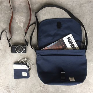 New Big Navy Basic Messenger Canvas Bag/ everyday bag/ travel bag