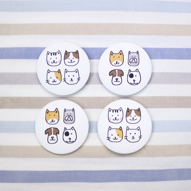 Cats and dogs badge