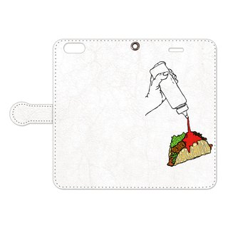 Notebook type iPhone case / It aborts dietary restrictions